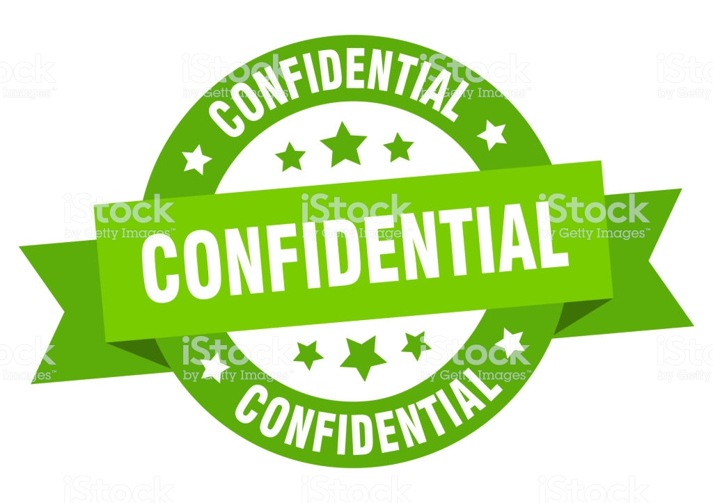 confidential ribbon. confidential round green sign. confidential